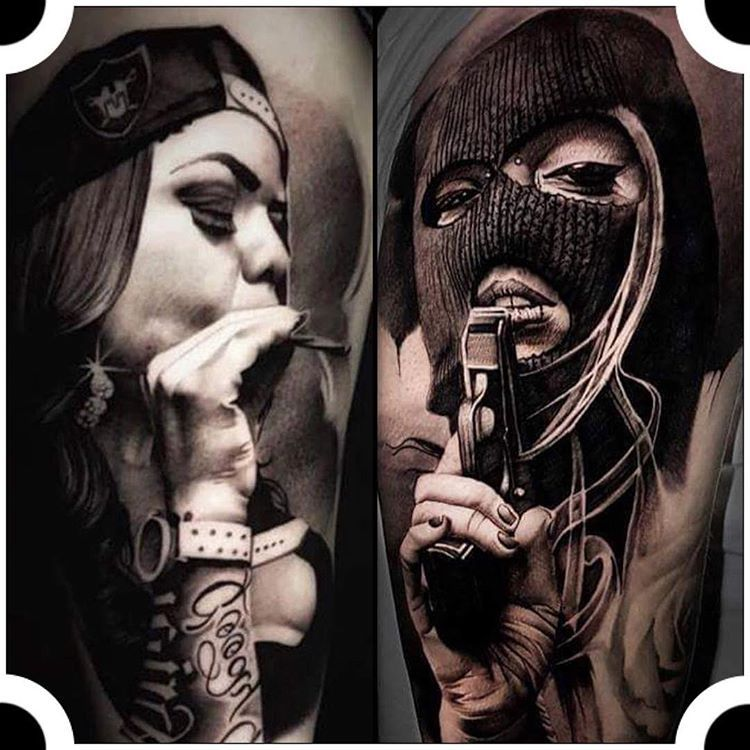 Tattoo Locations On Body: @fabio_tattooartist Gangster Girls Location🔹Portugal #d