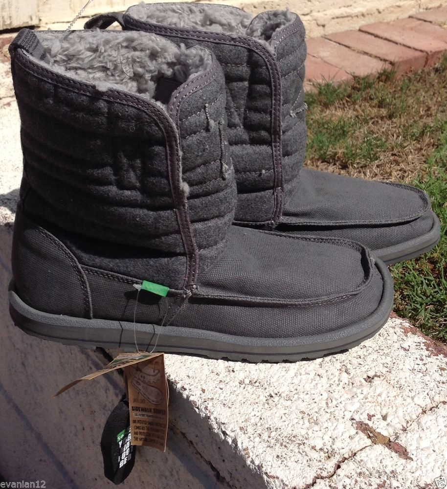 Sanuk Men's Guys Big Rig Boots Size 9 NEW Nordstrom Yoga