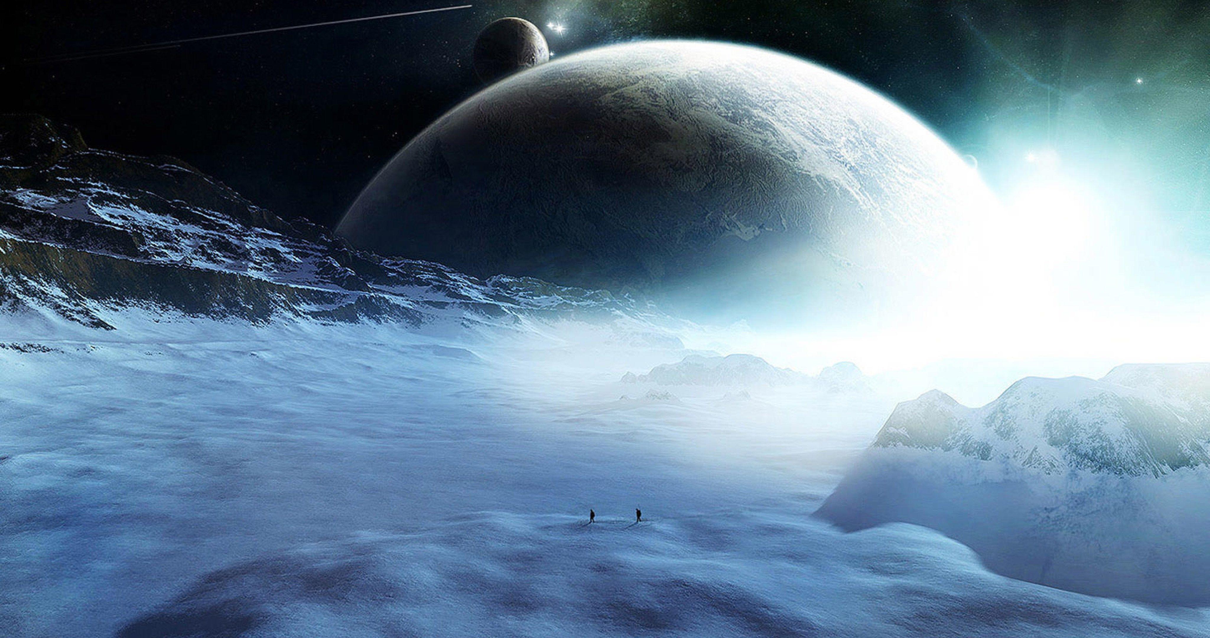 Alien Planet Orbit Space 4k Ultra Hd Wallpaper Planet Pictures Planets Wallpaper Space Backgrounds