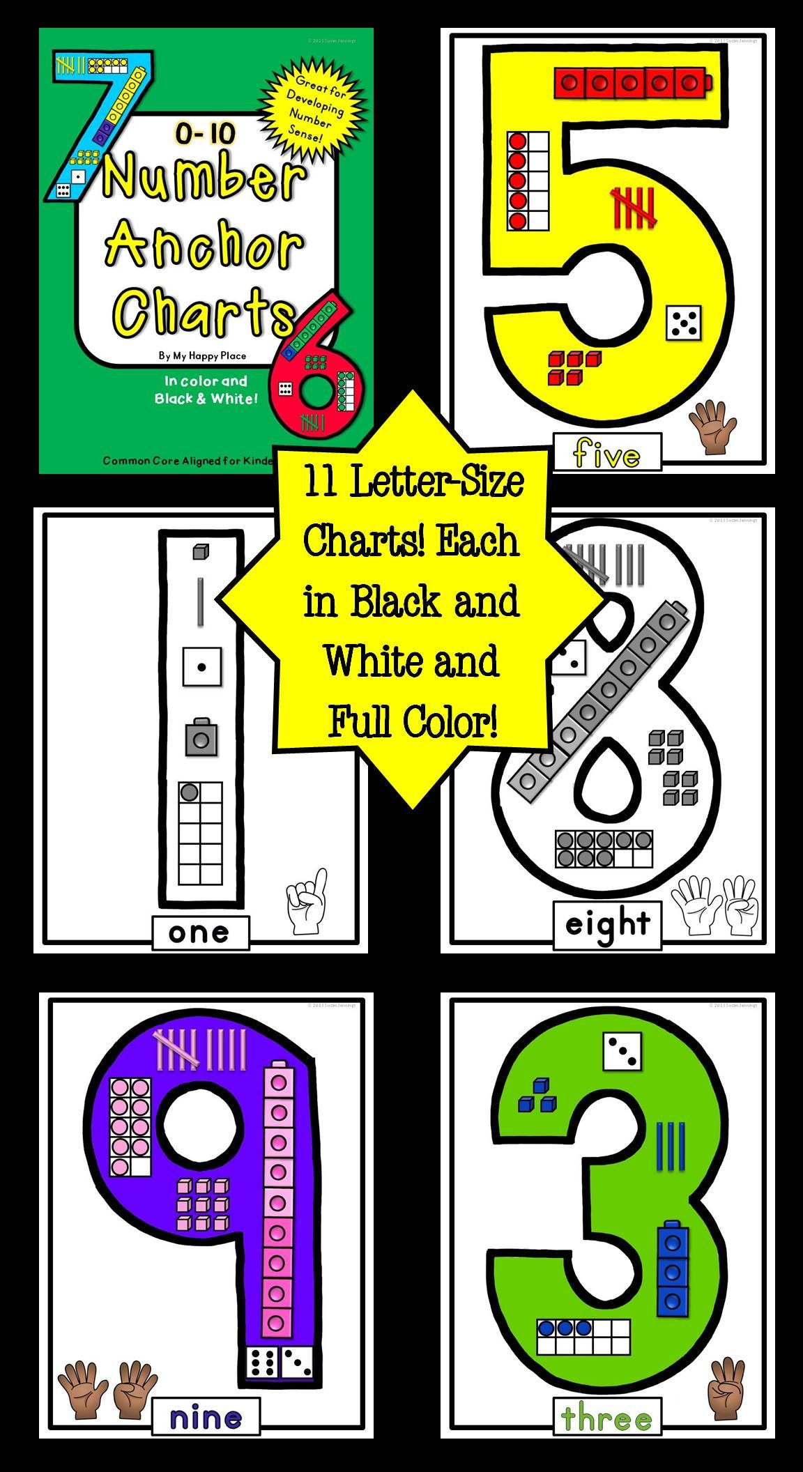 Number Anchor Charts 0 20