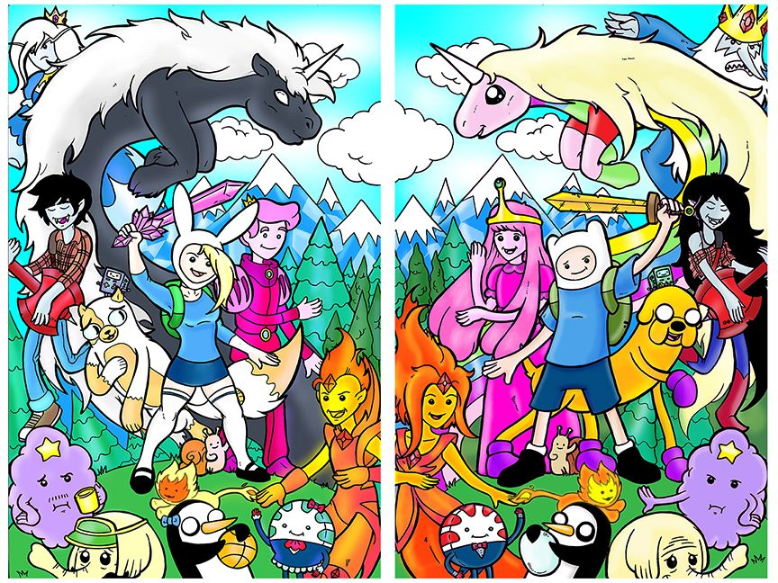 Adventure Time Side by Side by TheRealJoshLyman.deviantart ...