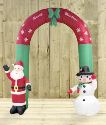 christmas outdoor inflatable arch santa snowman large greeter decor 24m tall smartdealsmarket