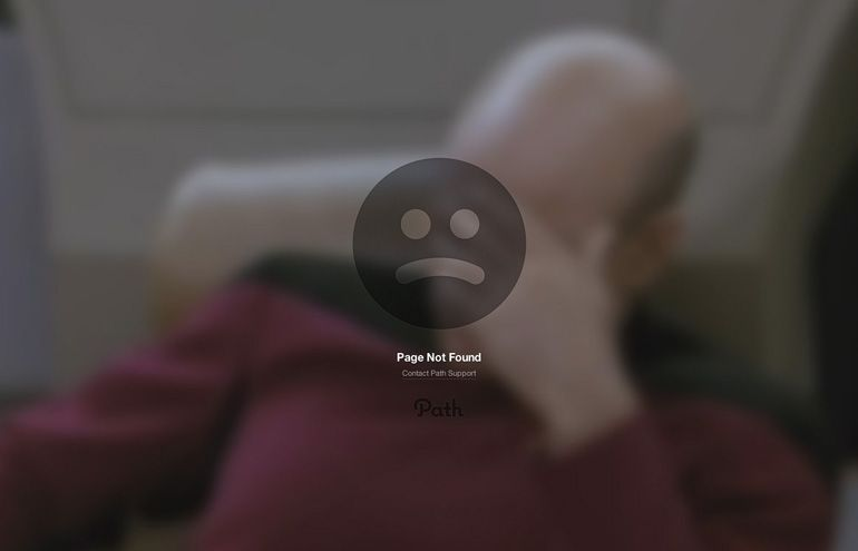 404 page of Path
