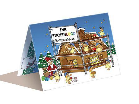 Weihnachtskarten Mit Firmenlogo.Weihnachtskarte A6 Gerüstbau Handwerk Weihnachtskarten Cards