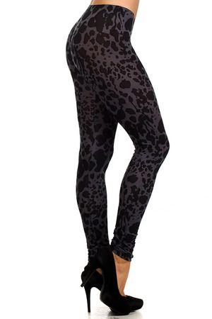 Black Leopard Leggings - $27 at OnlyLeggings.com #OnlyLeggings