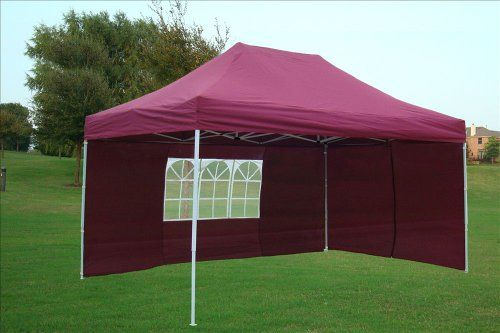 10x15 Pop Up 4 Wall Canopy Party Tent Gazebo Ez Maroon E Model By Delta Canopies Find Out More About The Great P With Images Patio Canopy Canopy Design Canopy Outdoor