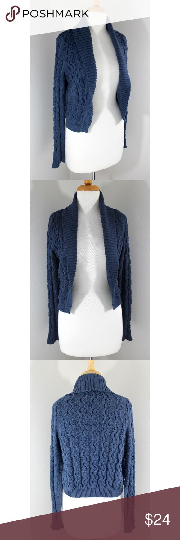 Anthropologie Sz XL Navy Blue Cardigan Sweater   Navy blue ...