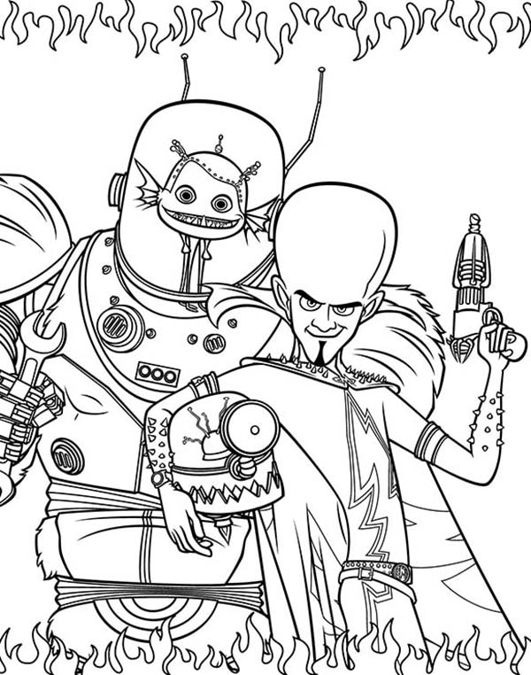 The Criminals From Megamind Film Coloring Pages : Bulk