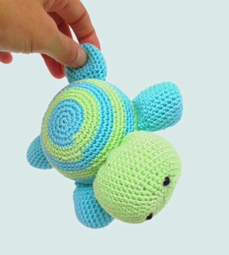 Crochet Turtle (free pattern) | Crochê | Pinterest | Tortuga, Tejido ...