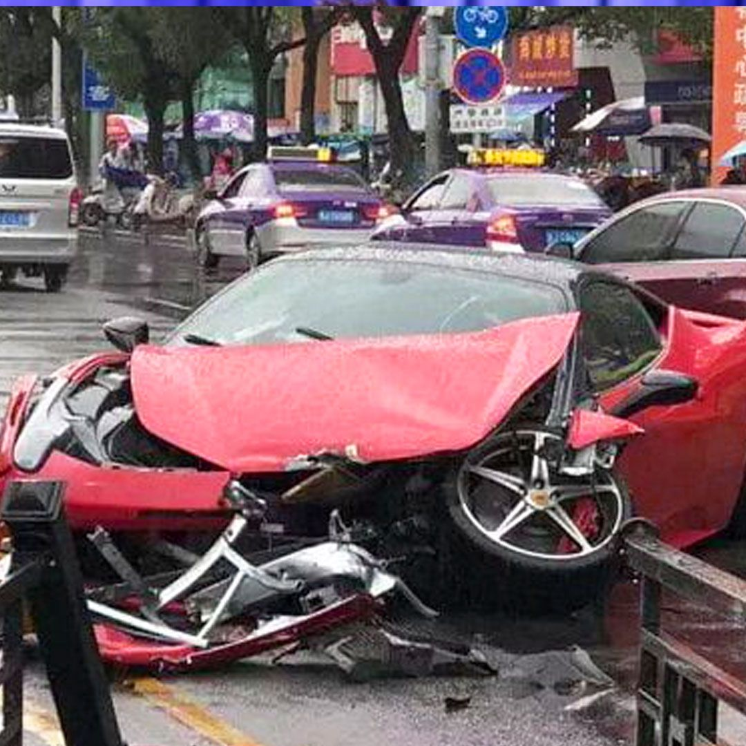 Woman Crashes A Ferrari Just Minutes After Renting It In