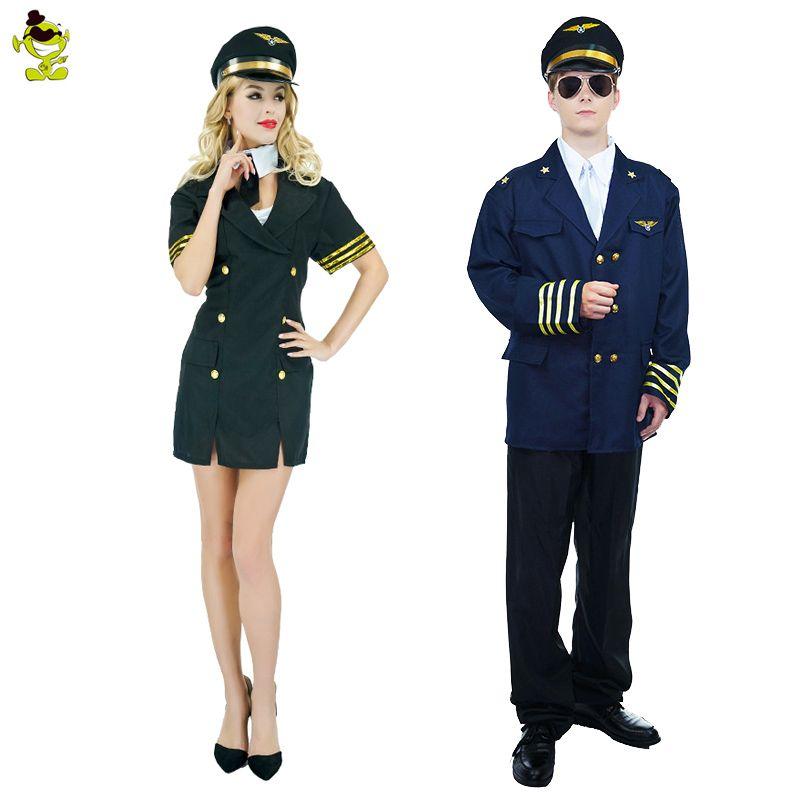 White Ships Airline Captain Hat Pride Uniform Adults Mens Fancy Dress Costume