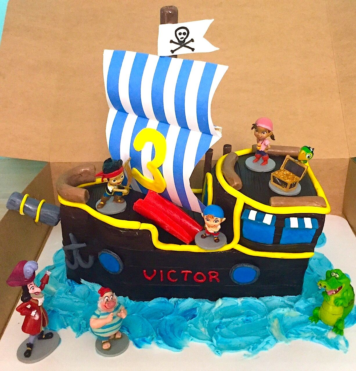 Jake and The Never Land Pirates Cake for Victors 3rd Birthday