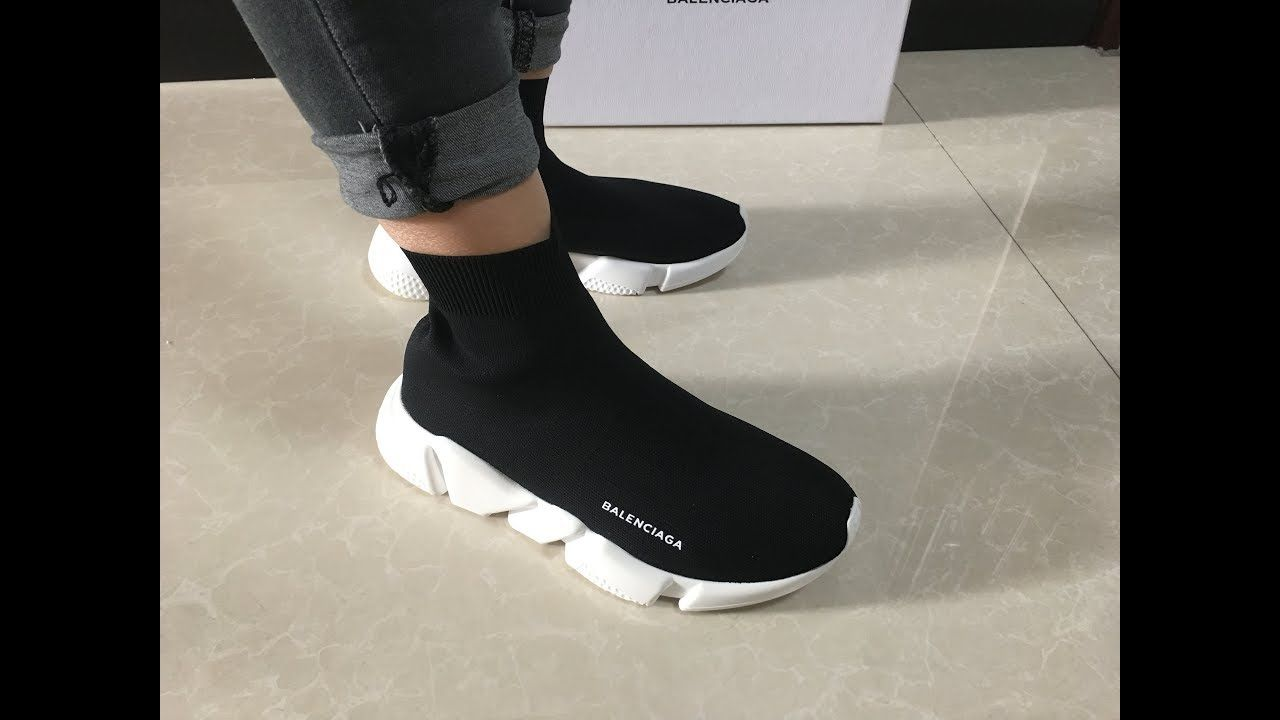Best Replica Balenciaga Speed Trainer Sock Race Runners Black On