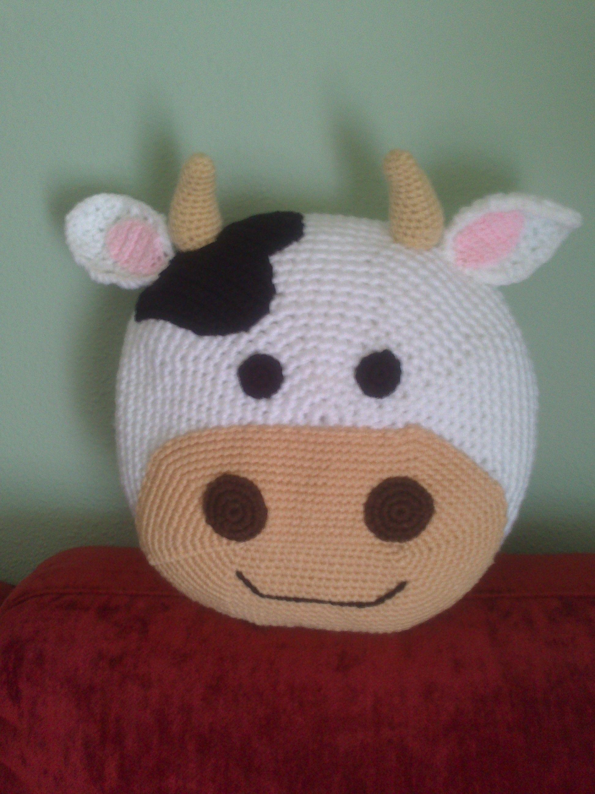 Cojin de vaca | amigurumi | Pinterest | Vaca, Ganchillo y Tejido