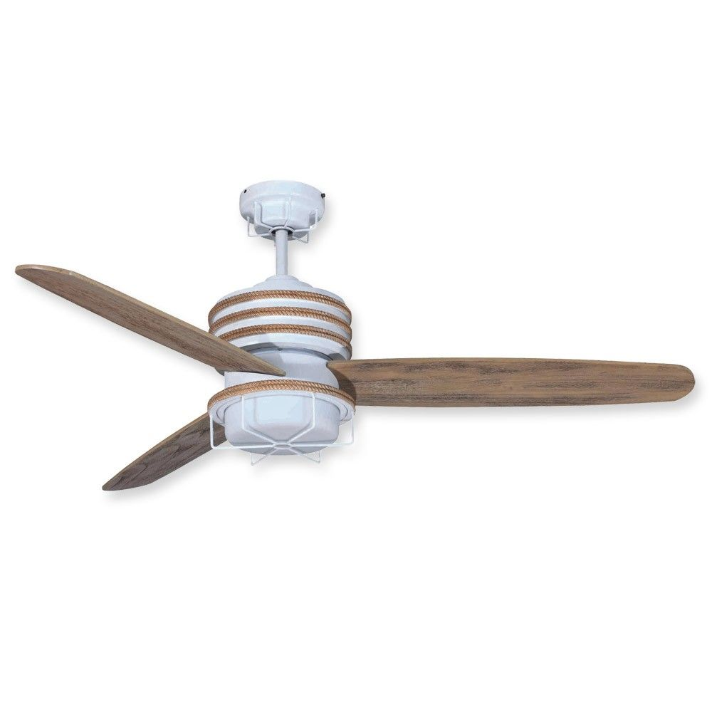 Ceiling Fan Drop Dead Gorgeous Coastal Fans Nautical Sail Cloth Blades Lights Style Living