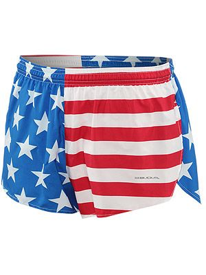 Boa Men S 1inch Elite Split Leg Short Us Flag Running Clothes Clothes How To Wear