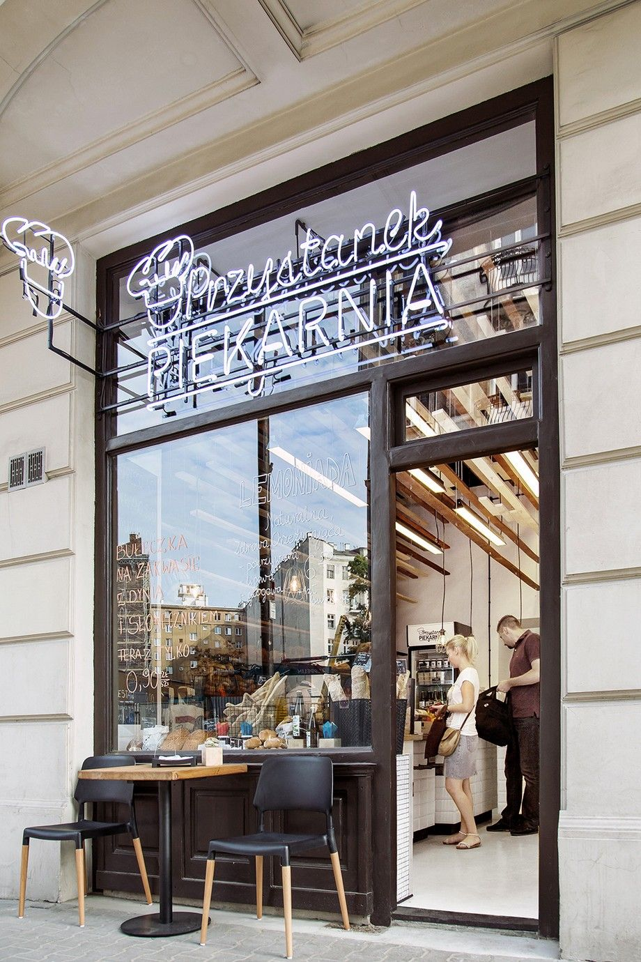 inviting bakery design in warsaw exhibiting an eye catching plywood rh pinterest com