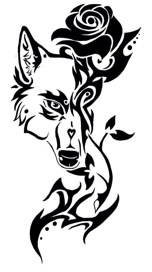 Wolfrose Wilk Tatuaże Tribal Tatuaże I Geometryczne