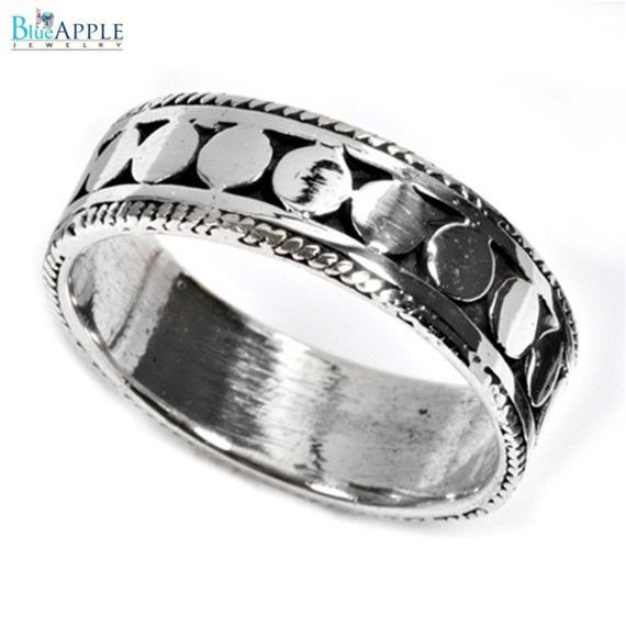 Famous Bali Design Elegant 7 mm Classic Band Ring Solid 925 Sterling Silver Plain Simple Bali Ring Size 4-16