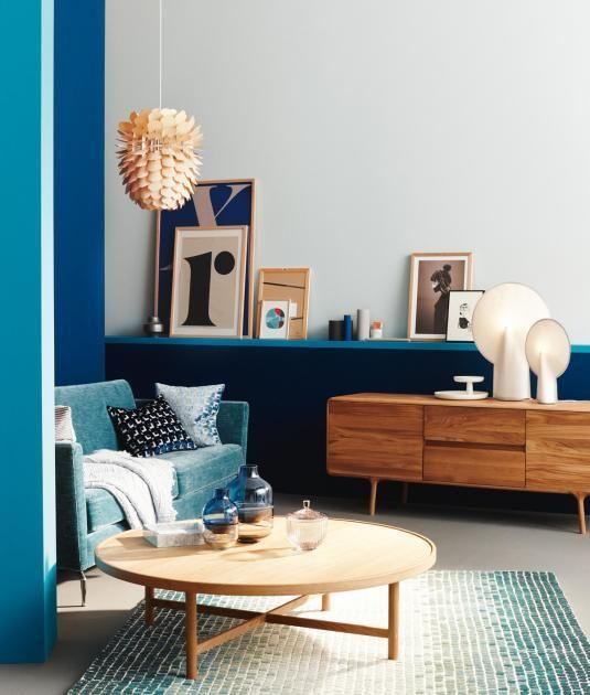 Wohnen Mit Farben Blau Petrol Holz Bild 2 Schoner Wohnen Wohnzimmer Inspiration Wohnen Wohnzimmer Dekor