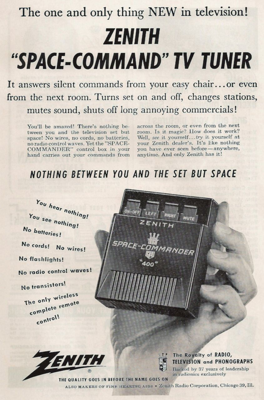 Zenith Tv Remote Control 1956 The First Practical Wireless