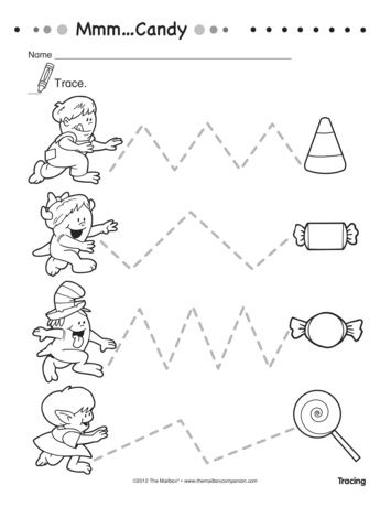 This worksheet for little ones pairs fine motor skills with visual ...
