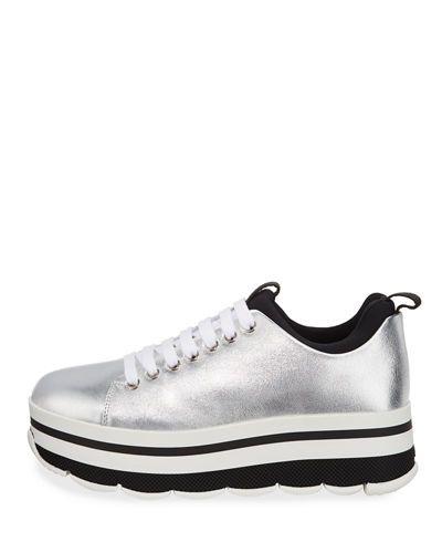 Prada Linea Rossa Sneaker Matellasse Free Shipping Fast Delivery ORRlg
