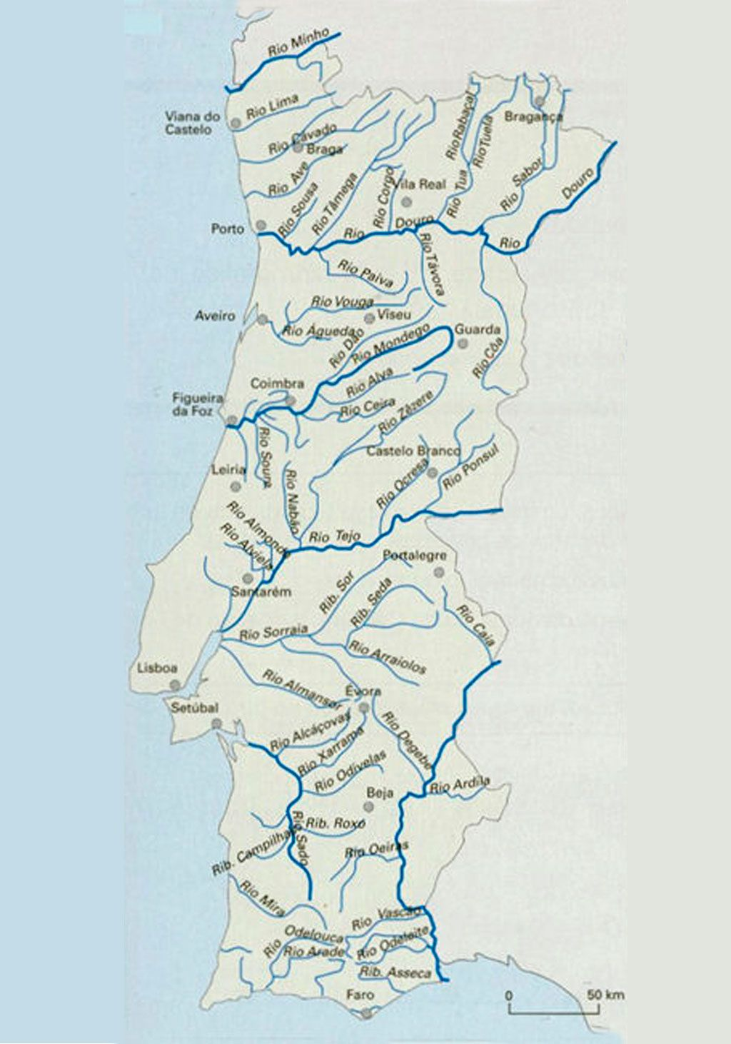mapa de rios portugueses Mapa Rios Portugal | thujamassages mapa de rios portugueses