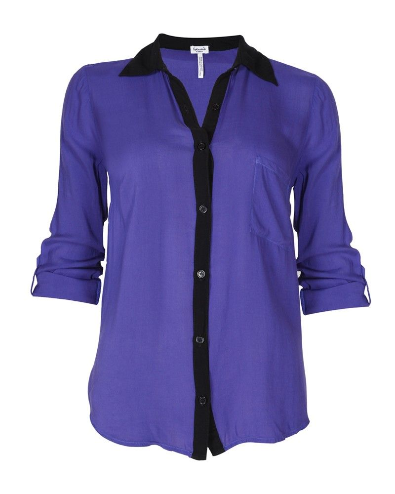 Splendid Iris Button Up