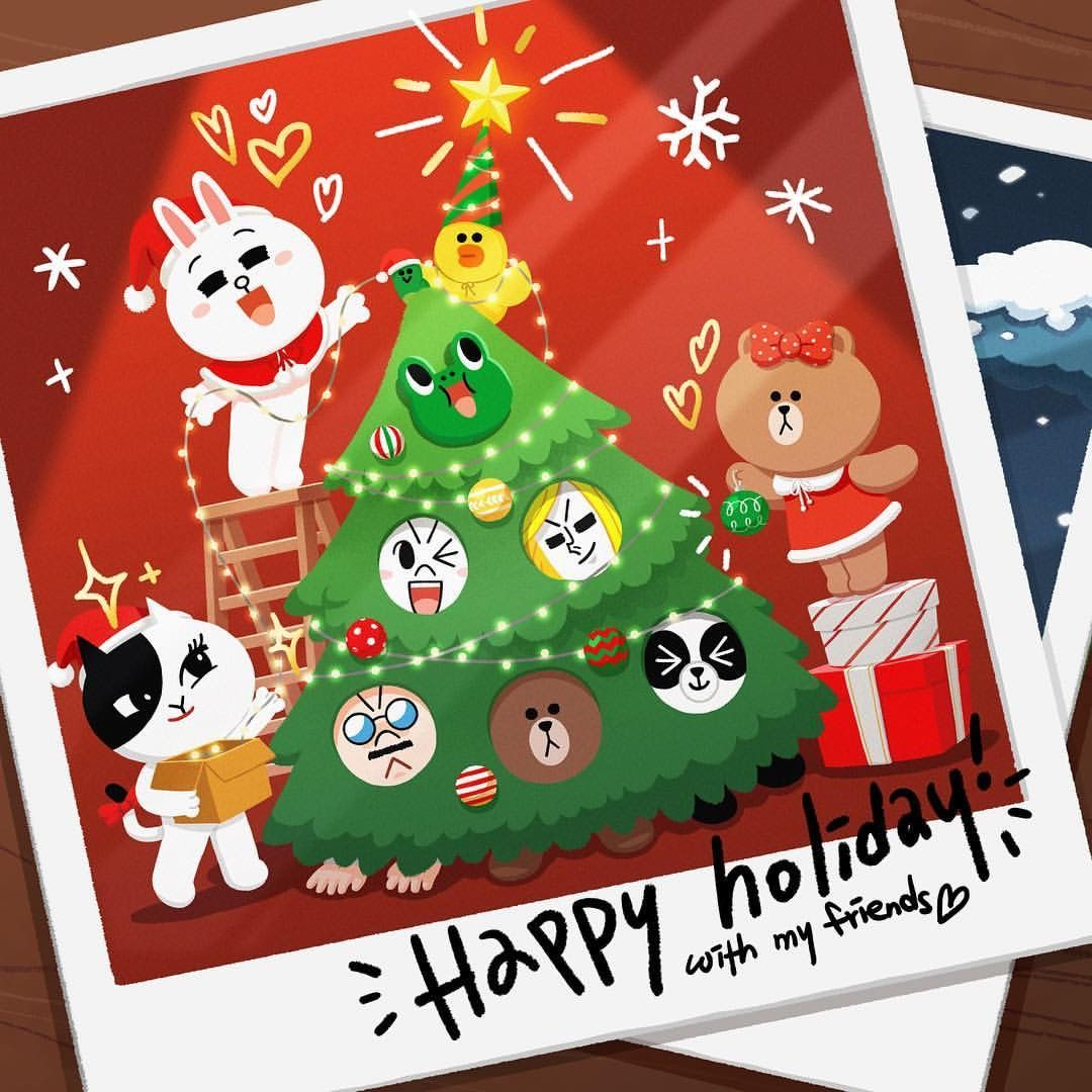 Wish Upon A Star Happy Holidays Sally Linefriends Line Friends Cute Wallpapers Bunny And Bear