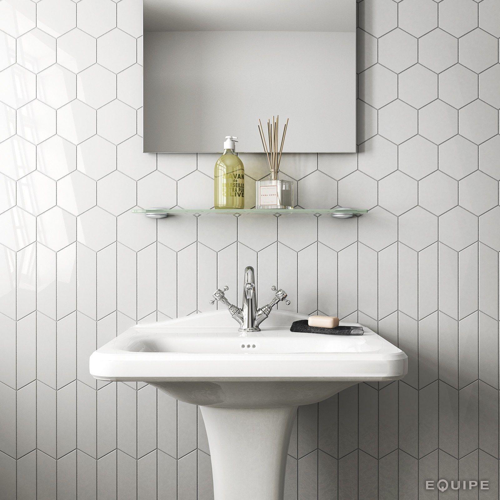 CHEVRON WALL Wall tiles by EQUIPE CERAMICAS | Nowa łazienka | Pinterest