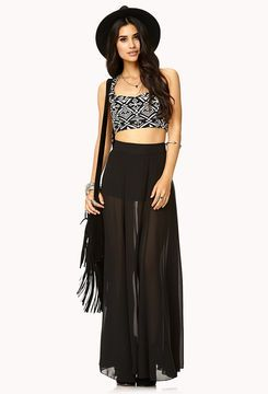 417731008 ShopStyle.com: FOREVER 21 Breezy Chiffon Maxi Skirt $19.80   Dance ...