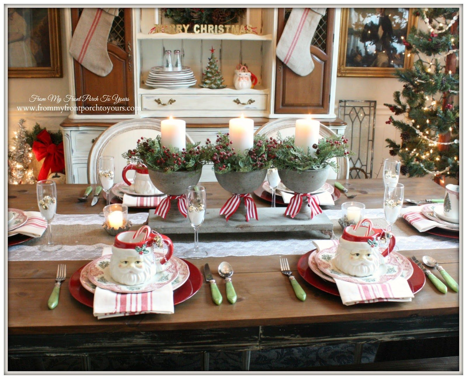 French Farmhouse Vintage Christmas Dining Room | French farmhouse ...