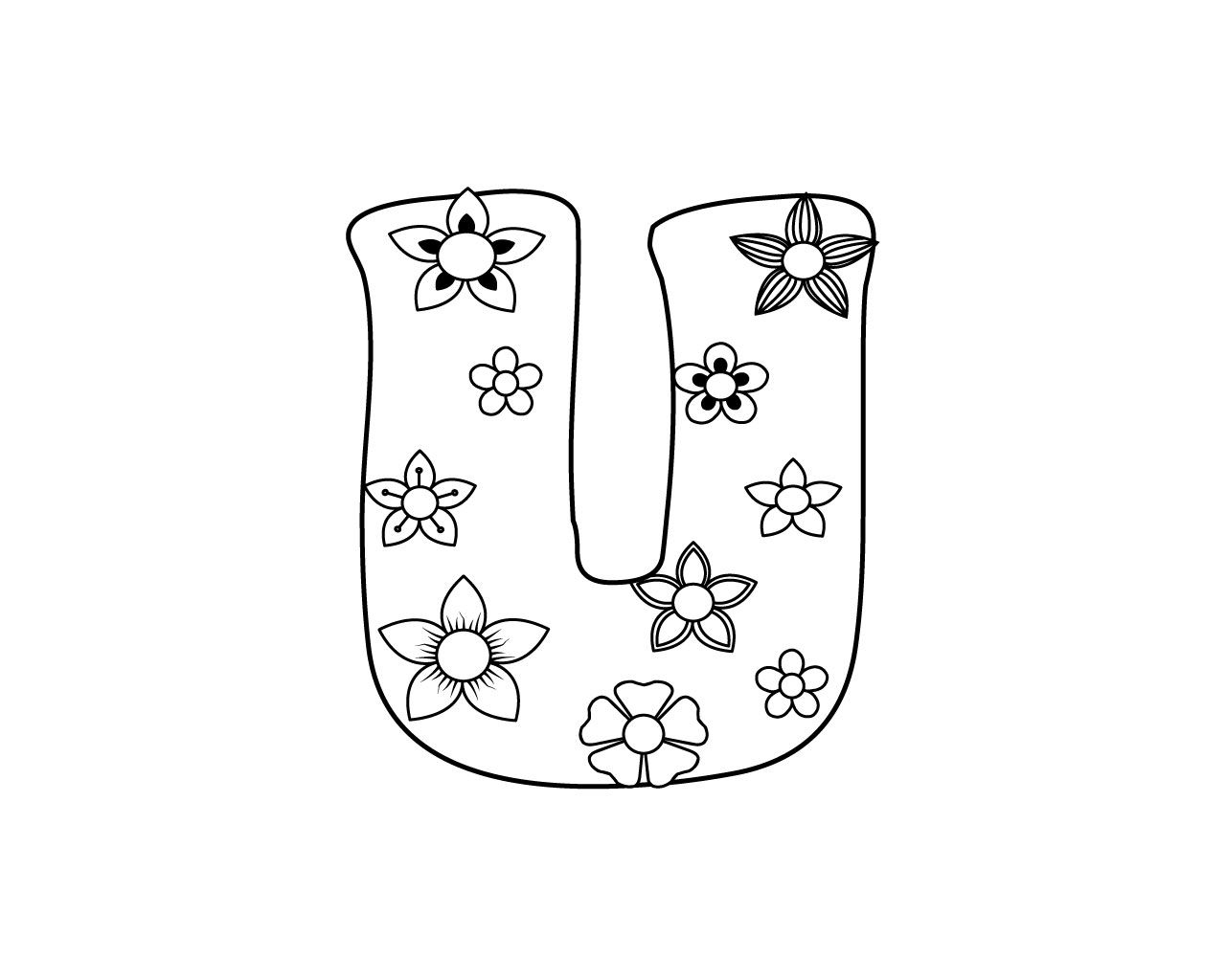 Letter U Coloring Page To Print Color To Coloring Pages Gives Great Relief So You Are Free To Download Coloring Pages To Print Coloring Pages Doodle Lettering