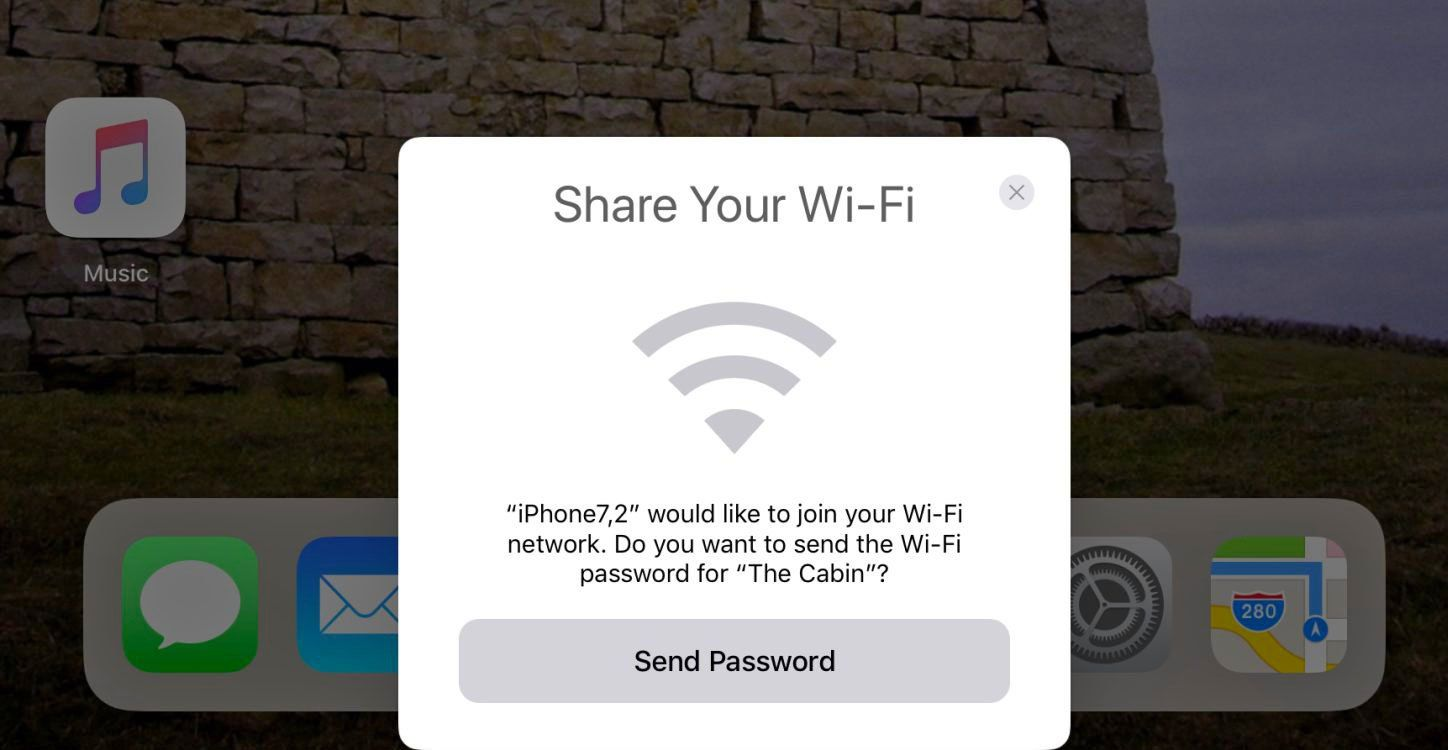 iOS 11 users will never have to memorize a WiFi password