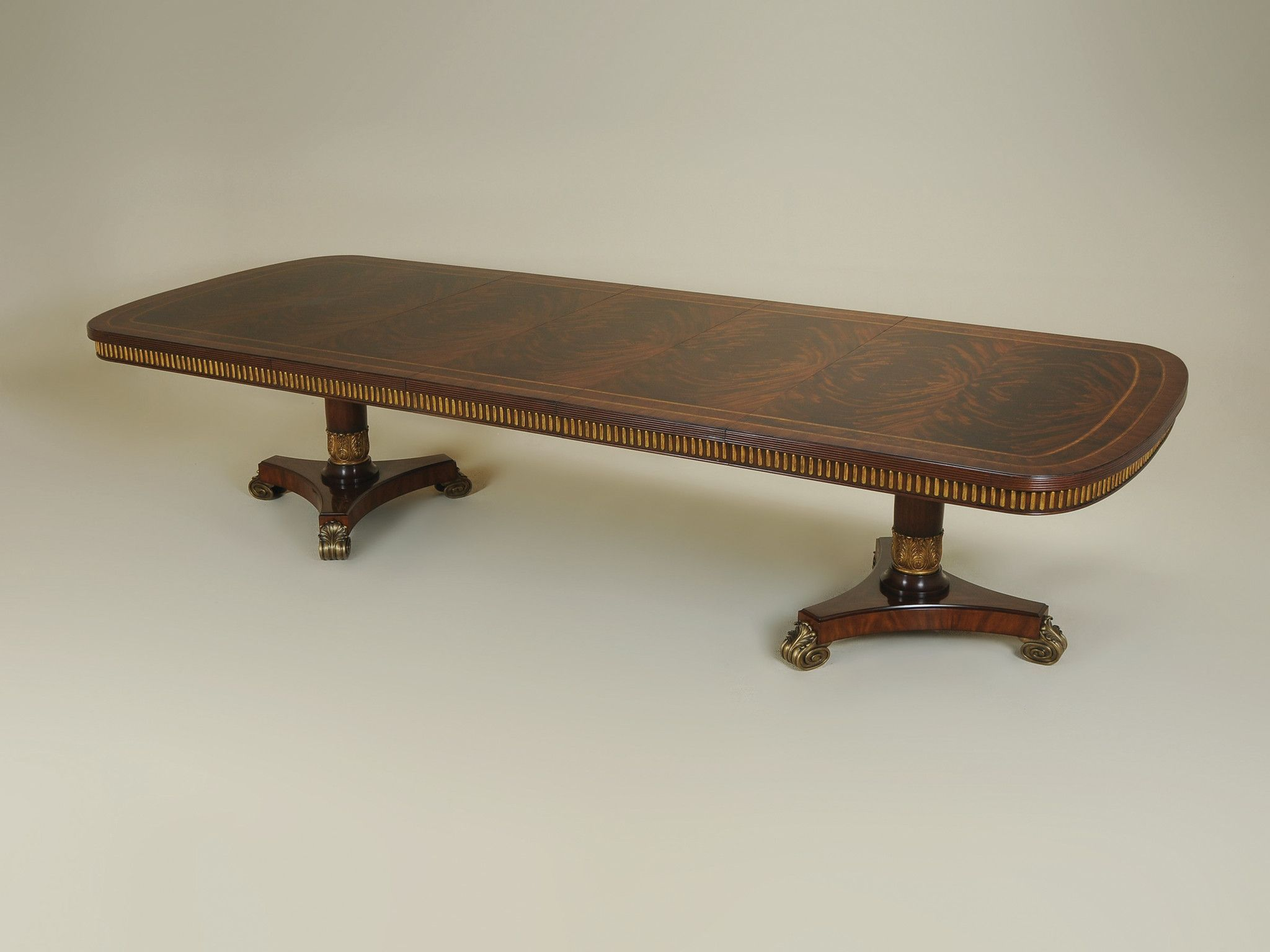 Mahogany Double Pedestal Dining Table 3530 306 Double Pedestal