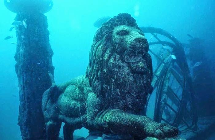 Underwater Lion City China Lost City Of Atlantis Underwater City Sunken City