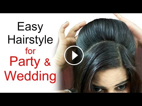 Easy Wedding Hairstyles Puff Hairstyles Hairstyles For Medium Or Long Hair Puff Hairstyles Hairstyles Ea Hair Puff Long Hair Wedding Styles Easy Hairstyles