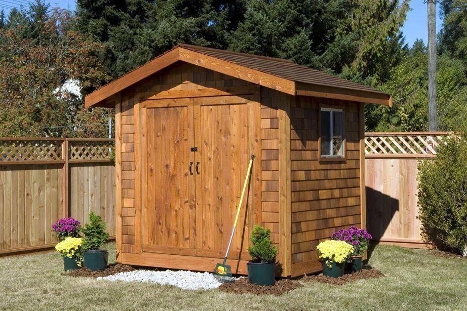 Best Cedar Shake Shingle Siding Star Lumber 10X12 Shed Kit Cedar Shingle Siding Ys1012Ps On 400 x 300