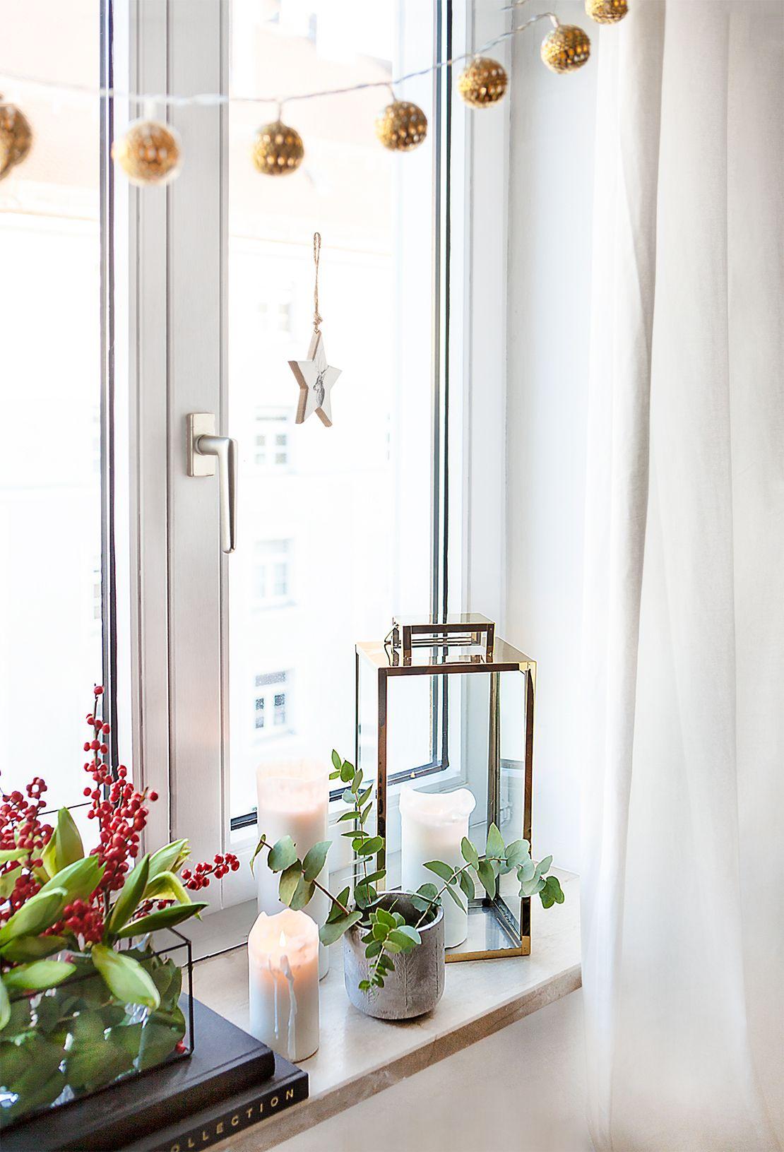 Kreative weihnachtsdeko f r 39 s fensterbrett im - Fensterbrett dekorieren ...