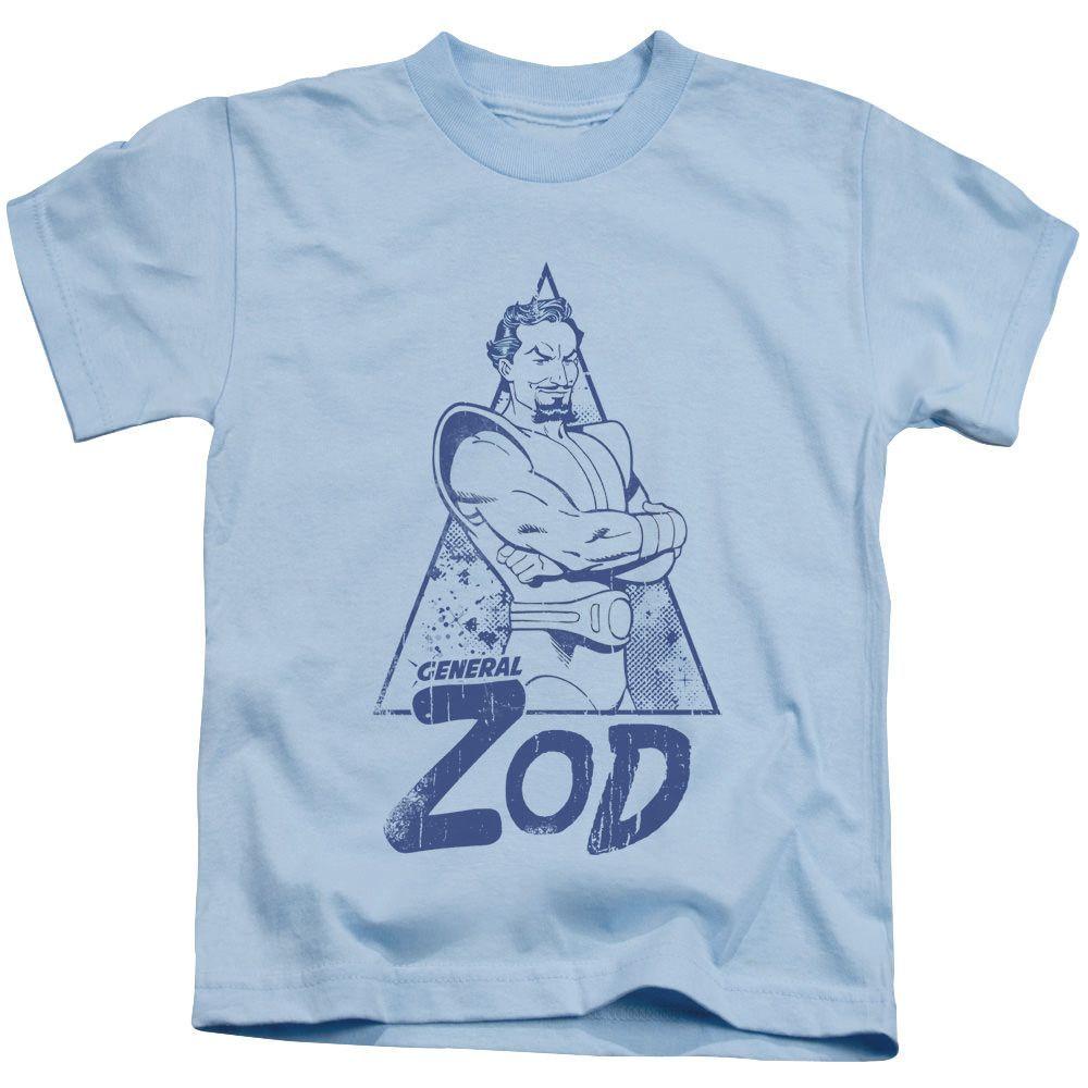 Superman Vintage Zod Light Blue Kids T-Shirt