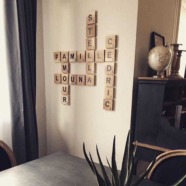 DIY lettres Scrabble déco bois #diy #scrabble #scrabbleframe - tour a bois fait maison