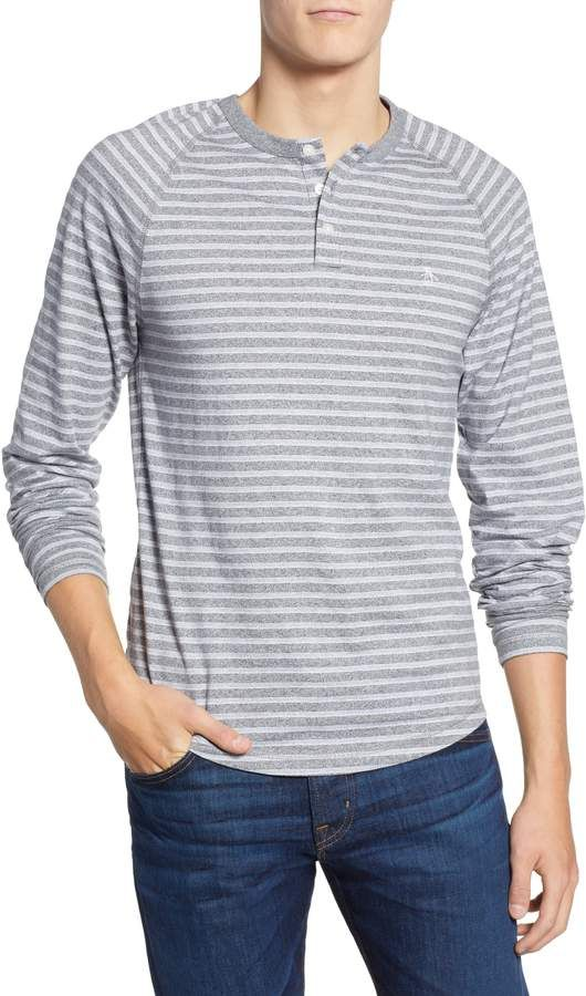 3eb88e69 Original Penguin Striped Long Sleeve Henley | Products | Long sleeve ...