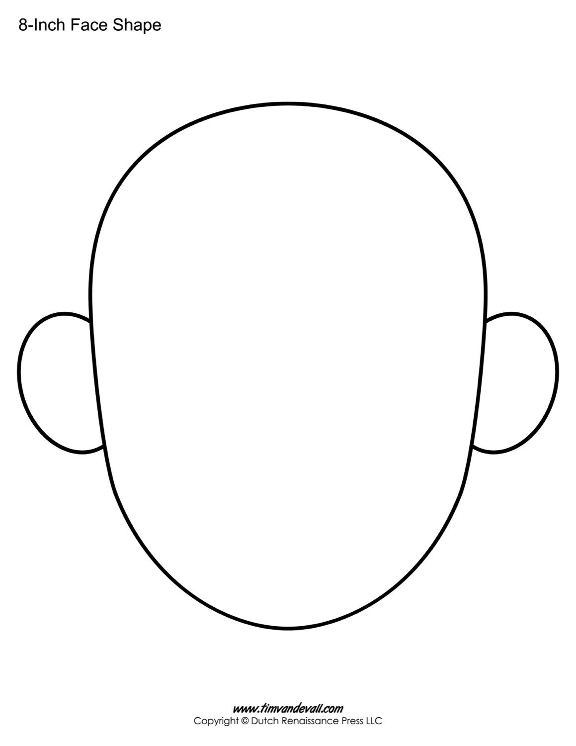 The Following Blank Face Templates Can Be Use For A Variety Of Back To School Activities And Ice