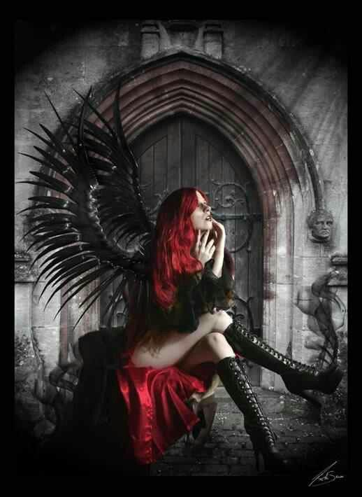 Dark gothic angel gothic gothic angel gothic fantasy art und dark fantasy art - Gothic fallen angel pictures ...