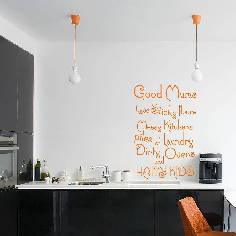 Good Mums Kitchen Wall Sticker By Wall Decals Uk By Gem Designs