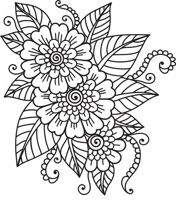 Pin By Stephanie Gomez On Color Pinterest Coloring Pages Flower