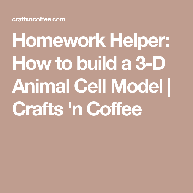 Homework Helper: How to build a 3-D Animal Cell Model | Crafts 'n Coffee