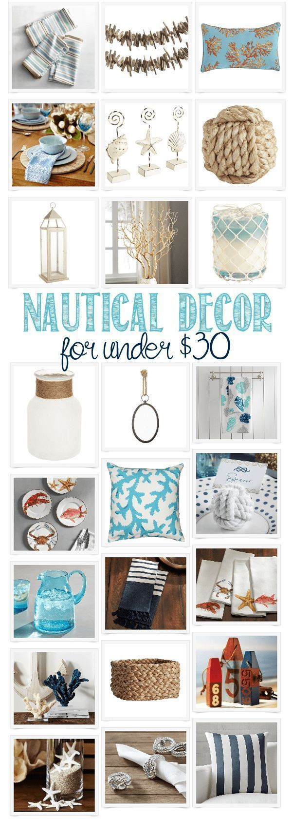 Photo of Cute summery Nautical Decor for under $30 – get the coastal beachy vibe for the summer or throughout the year.