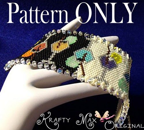 Party from Day to Night Beadwoven Bracelet PATTERN ONLY | KraftyMax - Jewelry on ArtFire